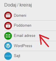 Kreiranje email naloga 1