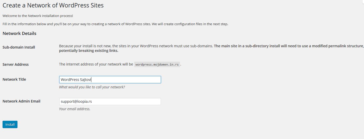 WordPress Multisite 8