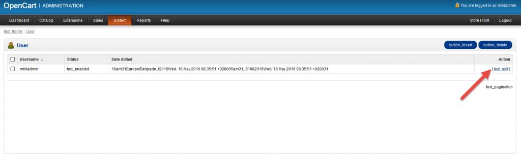OpenCart lozinka 2